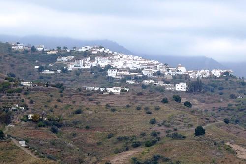 Sayalonga (Málaga-España). Corumbela visto desde Sayalonga