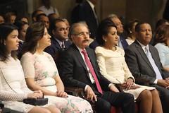 Presidente Danilo Medina y primera dama, Cándida Montilla de Medina, acuden a misa Día Nuestra Señora de la Altagracia