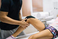 A knee massage for recovery
