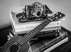 Vintage Camera and Ukulele