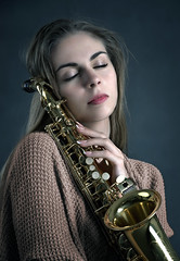 Girl Music Saxophone Instrument Edited 2020