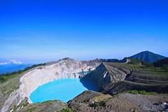 Kelimuto volcano lake, near Ende in Flores island, Indonesia