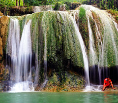 A small waterfall in Java, Indonesia