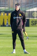 Norweger Erling Haaland in einer Pause beim BVB Training