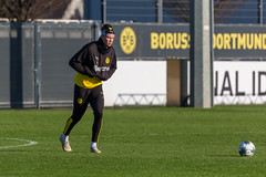 Former RB Salzburg star Erling Haaland during his first public training with Borussia Dortmund in January 2020