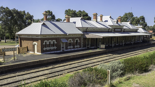 Mudgee Railway Station - built 1884 - line not currently in use - see below