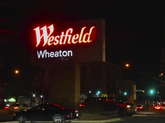 Shopping Center Sign - Westfield Wheaton