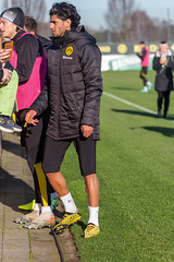 Nico Schulz and Mahmoud Dahoud meet the fans at the end of the Borussia Dortmund public training