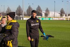 BVB-Torwart Roman Bürki beim öffentlichen Training an einem sonnigen Tag