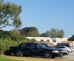 Seaside Police Ford Crown Victoria awaiting retirement