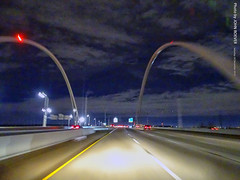 Margaret McDermott Bridge/I-30 at Night, 28 Dec 2019