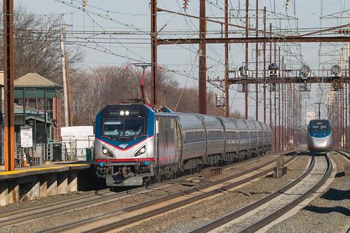 Amtrak Acela Express meets Amtrak Northeast Regional
