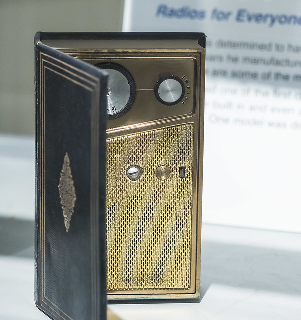 Photo:VOA Tour: Crosley portable transistor radio disguised as a book By lundyd