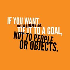 1. If You want happy life-Quote-Orange bg