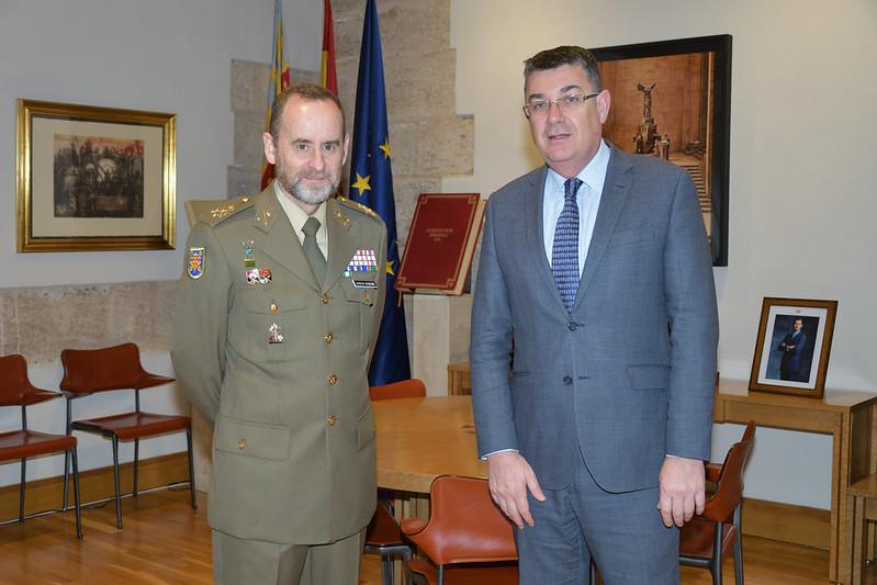23-1-2020 Visita Tinent General i Cap del CGTAD, Fernando García-Vaquero Pradal