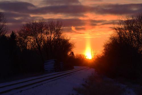 A Candle Flame Sunrise