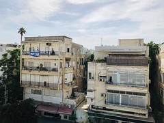 View from our apartment at Ben Yehuda Street