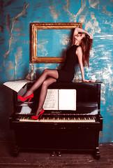 Girl Piano Grand Piano Woman Edited 2020