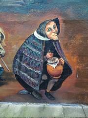 Fresque d'après Pieter Brueghel l'Ancien face à l'église Sint-Niklaas de Menin (Rekkem).-