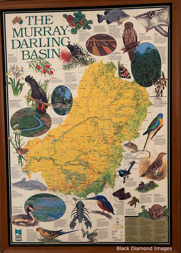Map of the Murray Darling Basin, Maidens Menindee Hotel, Menindee, Western NSW