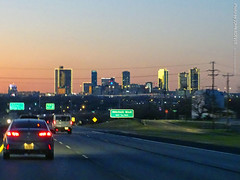 Fort Worth Skyline from US-287 at Dusk, 29 Dec 2019