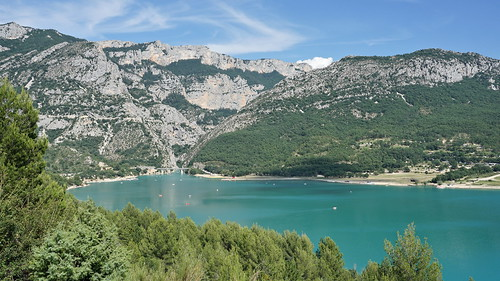 The beautiful turquoise lake