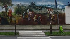 Fresque d'après Pieter Brueghel l'Ancien (Rekkem).- (2)
