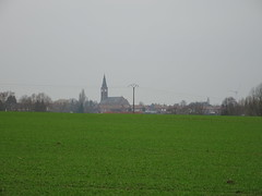 Dronkaard,  panorama sur l'église St Alphonse d'Halluin