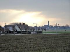 Rekkem.-  Panorama sur l'église Saint Alphonse d'Halluin