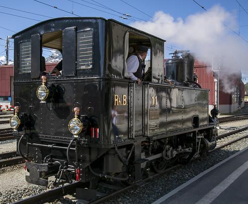 Rhätische Bahn RhB 11 Samedan 9 juni 2018