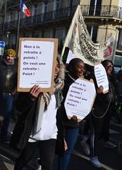 Manifestation du 24 janvier 2020 contre le projet Macron de réforme des retraites