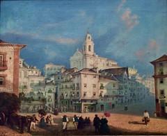 Largo do Chafariz de Dentro, Lisbon (19th Century) - Robert