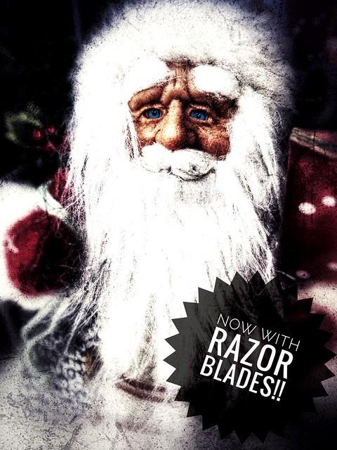 Close shave Santa