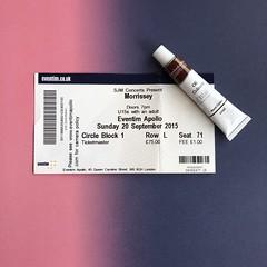 Morrissey Concert Ticket