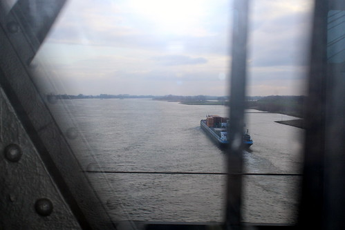 Crossing the river Waal