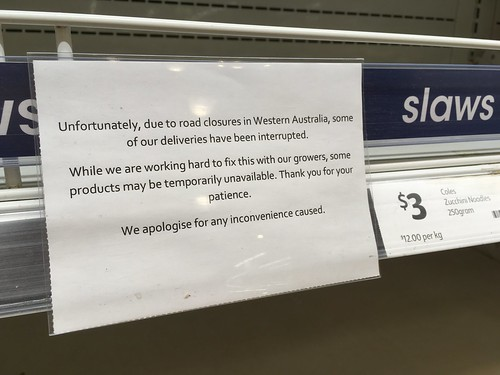 Road Closures from Bushfires Affect Groceries