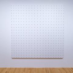 Bridget Riley retrospective, Hayward Gallery, B&W
