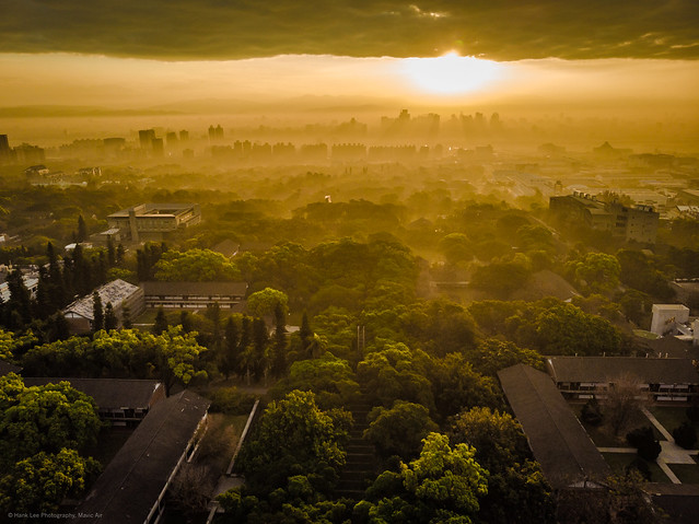 Photo:東海大學日出 Sunrise, in the campus of Tunghai University, Taichung, Taiwan. By ~ Hank Lee Photography~