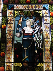 The Lay of the Last Minstrel Stained Glass Window