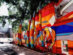 Graffiti with a rhinoceros
