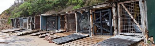 Sandon Point boat sheds