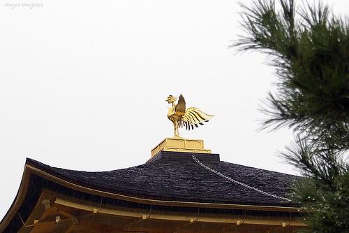 "Phoenix on top of the Kinkaku-ji (金閣寺, literally ""Temple of the Golden Pavilion""), Kyoto, Japan"
