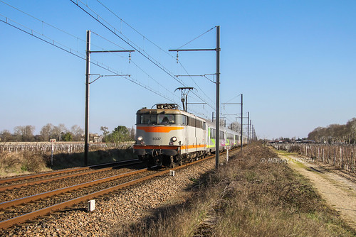 05 mars 2001 BB 9337 Train 3856 Toulouse-Matabiau -> Nantes Portets (33)