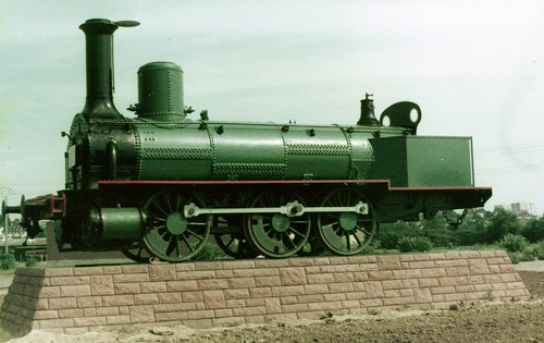 france - plinthed plm 0-6-0 outside mulhouse railway museum