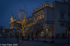 Christmas lights, Cloth Hall, Krakow
