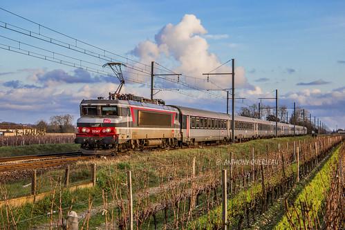 26 janvier 2020 BB 22347 Train 4760 Marseille-St-Charles -> Bordeaux-St-Jean Portets (33)