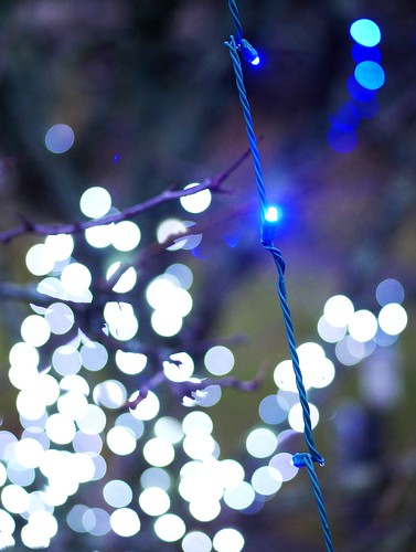 Holiday lights & bokeh, Winchester - 2019 December 31