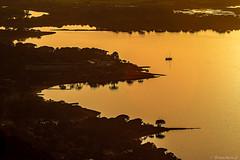 La côte du Belvedère au soleil couchant