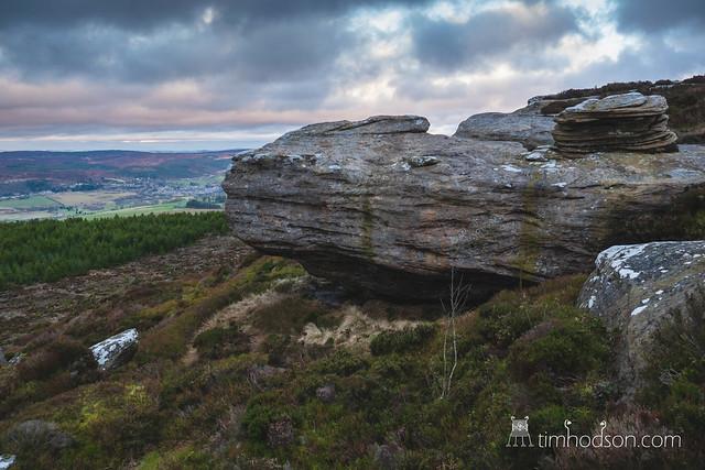 Simonside Hill and Dove Cragg