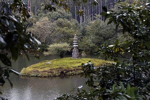 In the Gardens of Kinkaku-ji (The Golden Pavilion, Kyoto, Japan): Anmintaku